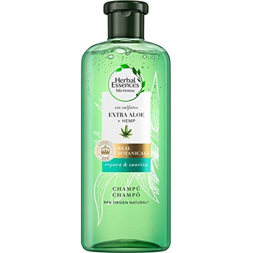 Herbal Essences Champú Renew Sin Sulfatos Con Aloe Intenso Y Hemp 380 ml