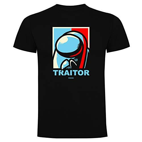 Friking Camiseta Divertida Negro Traitor Manga Corta Hombre Regalo Ideal para Gamers
