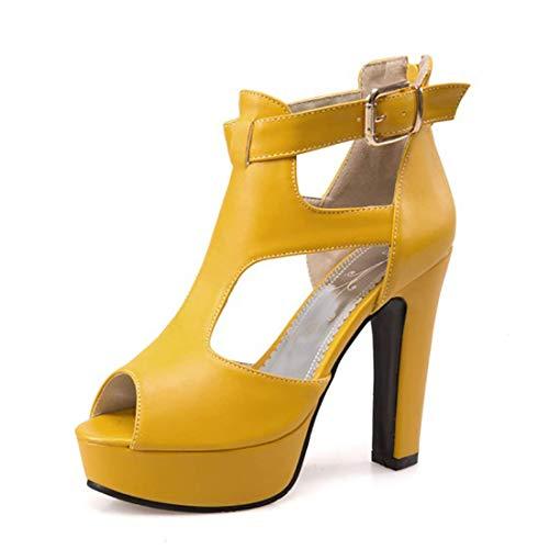 MORNISN Women's peep Toe Platform high Heel Sandals Buckle T-Strap Pumps Wedding Party Shoes White