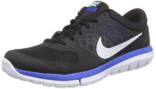 Nike Flex 2015 RN, Zapatillas de Running Hombre, Negro/Blanco/Azul (Black/White-Copa-Blue Lagoon), 40 EU