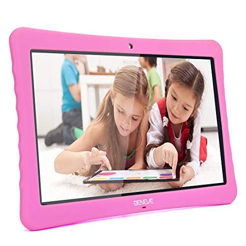 10 Android Tablet, 10.1' Inch 1080p Full HD Display Android 7.0, 2GB+32 GB, Dual Camera Front 2MP+ Rear 5MP, Bluetooth and WiFi Blue Kid-Proof Case(Pink)