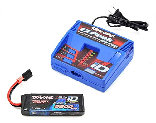 Traxxas 2992 2S Single Battery & Charger Completer Pack, with 4 Amp iD Charger + 2S 5800mAh iD LiPo Battery