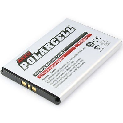 cellePhone PolarCell Akku Li-Polymer kompatibel mit Sony Xperia neo L - Sony-Ericsson Aspen Xperia Play X1 X2 X3 X10 (Ersatz für BST-41)