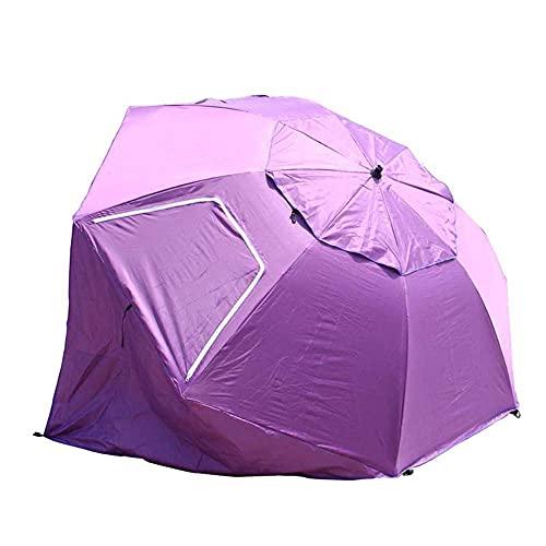 YQG Paraguas de Playa Anti-UV y con Dosel para la Lluvia, Paraguas de Pesca, Carpa de Playa portátil, Parasol con Parasol UPF 50, con Piso Extensible, Cuatro Colores