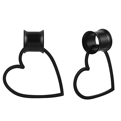 12mm heart plugs - 3