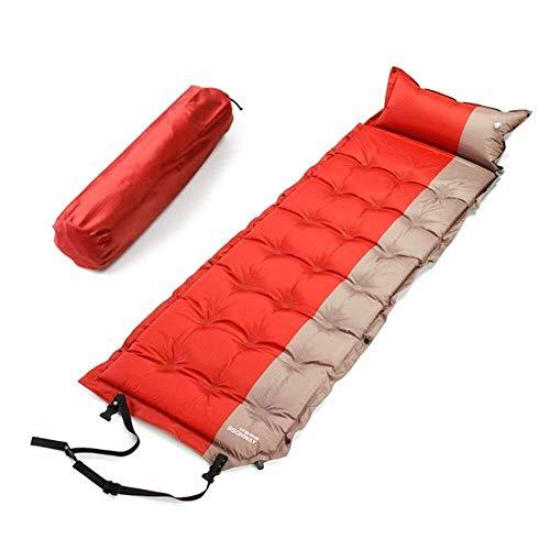 Campeggio impermeabile materasso gonfiabile con una cucitura cuscino piegato compatto singolo pad tenda spugna Jamboree Beach (colori: rosso, dimensioni: 75,9 * 24,4 * 1,97 pollici), dimensioni: 75,9