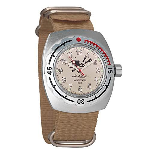 Vostok se Dude de Buceo Reloj de Pulsera Militar Ruso de Anfibios WR 200M edición Limitada # 670658