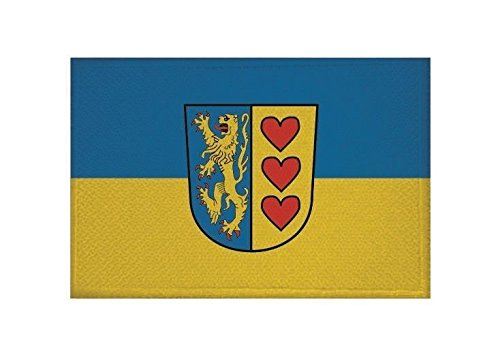 U24 Aufnäher Landkreis Lüneburg Fahne Flagge Aufbügler Patch 9 x 6 cm