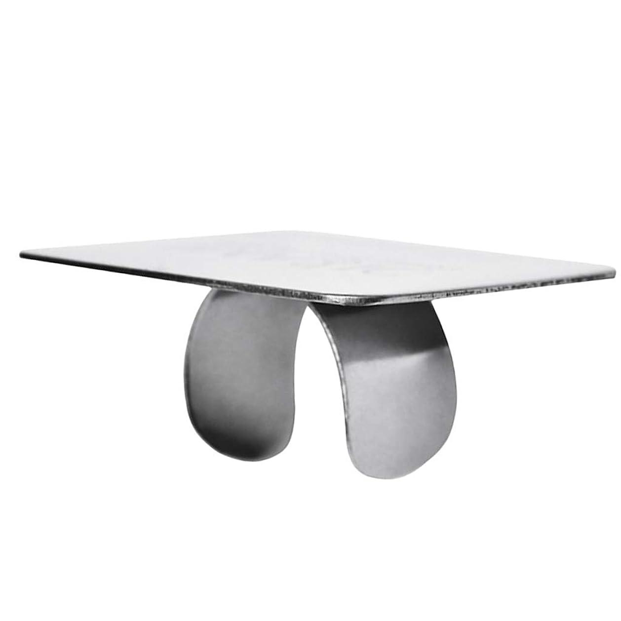 ベール従う統計的KESOTO ステンレス鋼 ミキシングパレット 指輪 美容院 プロ ネイルアート メイクアップ