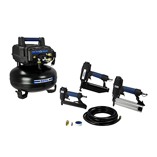 Excell U256PPCKE Compressor & 3-Nailer Combo Kit