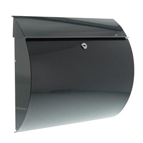 BURG-WÄCHTER Stahlbriefkasten mit Öffnungsstopp, A4 Einwurf-Format, EU Norm EN 13724, Toscana 856 ANT, Anthrazit