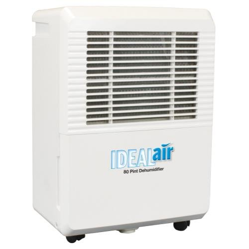 Ideal-Air Dehumidifier 50 Pint - Up to 80 Pints Per Day