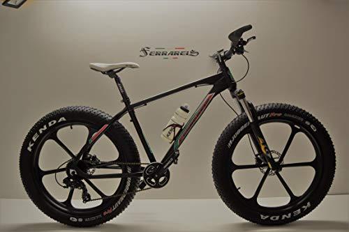Ferrareis - Bicicleta de montaña Fat Bike 26 de Aluminio, 9 V, Shimano Front Discos hidráulicos