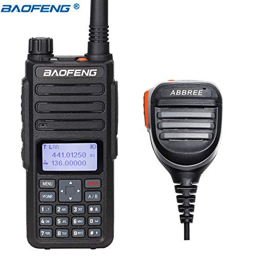 BaoFeng DM-1801 DMR and Analog VHF/UHF Dual Band Dual Time Slot DMR Ham Amateur Two Way Radio 1024 Channels Tier I & II Compatible with MOTOTRBO, Free Programming Cable and Speaker