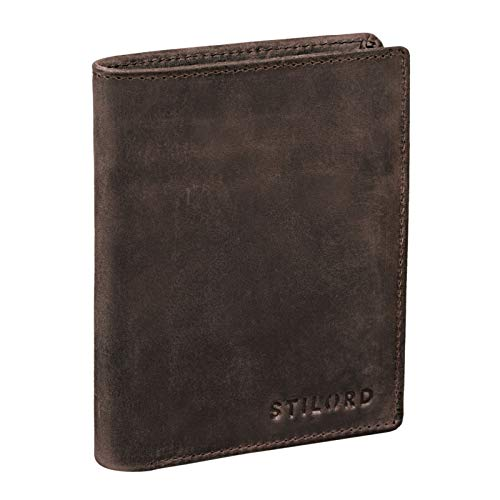 STILORD 'Sawyer' RFID Cartera Hombre Piel Billetera Cuero Vintage Monedero Masculino para Tarjetas Monedas y Billetes de Auténtico Cuero, Color:Sevilla - marrón