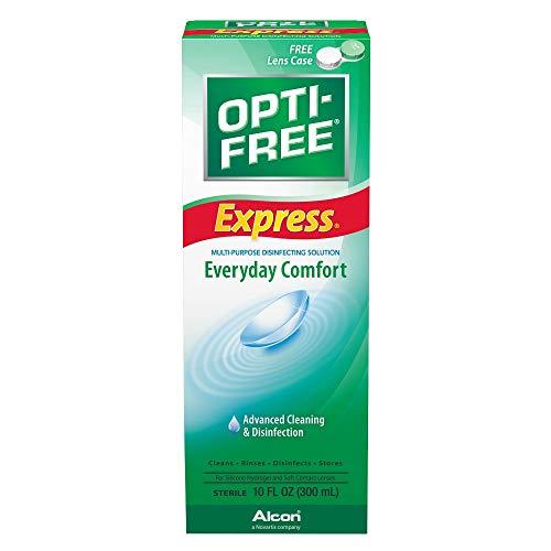Opti-Free OPTI-FREE EXPRESS Jeden Tag Komfort, erweiterte Reinigung und Desinfektion 10 Unzen (Pack of 6)