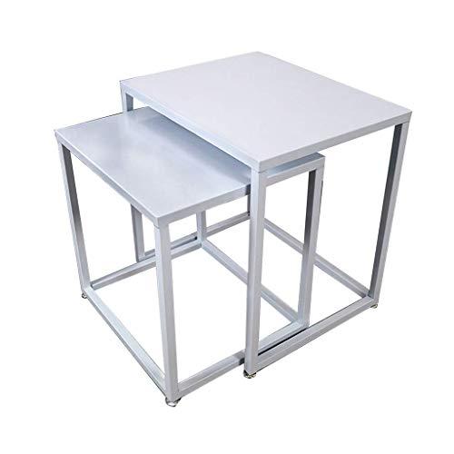 N/Z Tägliche Ausstattung Tische Schreibtisch Couchtisch Einfacher Beistelltisch Schmiedeeisen Schlafzimmer Wohnzimmer Multifunktionaler Ecktisch Sofa Beistelltisch Weiß