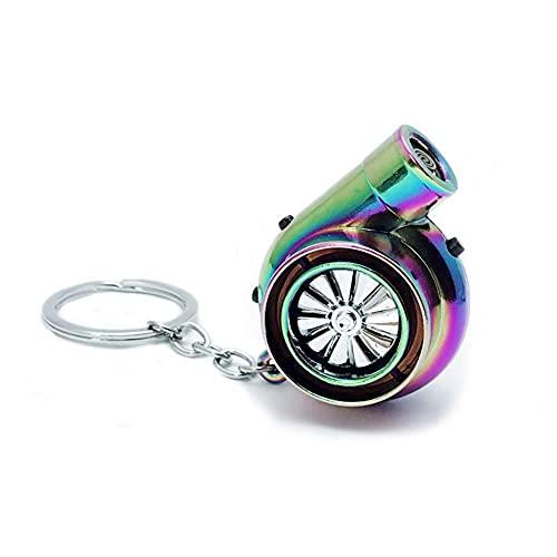 Q&A Turbo Schlüsselanhänger,Wiederaufladbar Flammenlos Winddicht feuerzeuge Schlüsselanhänger Mini Mit USB,Turbo Schlüsselanhänger Mit Sound Chrom Metall Anhänger Schlüssel Mini Keychain (Color)