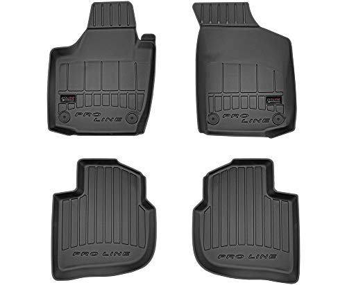 Alfombrillas de Goma 3D PRO-LINE SEAT Toledo IV 2012-2018 | Accesorios Coche Alfombra Goma Suelo Premium