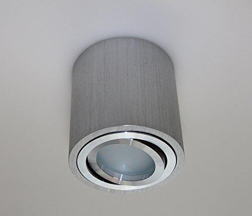 Aufbauleuchte Aufbaustrahler Unterbaustrahler Unterbauleuchte/Helitec-1120 mit GU10 Fassung/Silber-grau Aufbauspot Spot Deckenleuchte Deckenspot Möbelleuchte Schrankleuchte