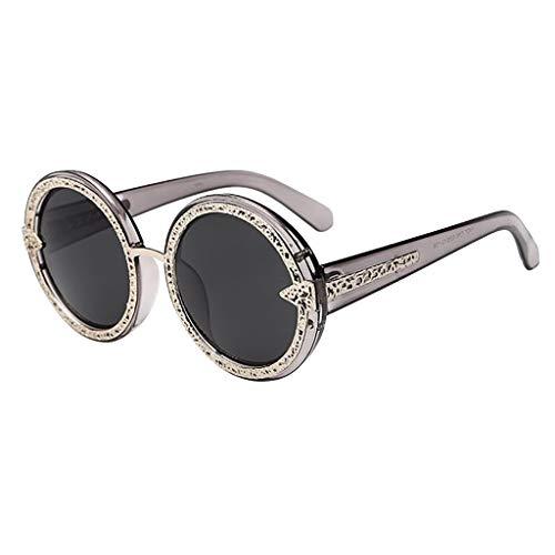 Janly Clearance Sale Gafas de sol para mujer, coloridas y lujosas, estilo retro, con marco de moda, para el verano