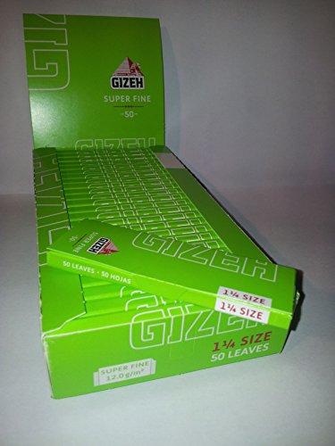 Gizeh 100 libritos x 50 Hojas Papel de Liar 1 1/4 Super Fino
