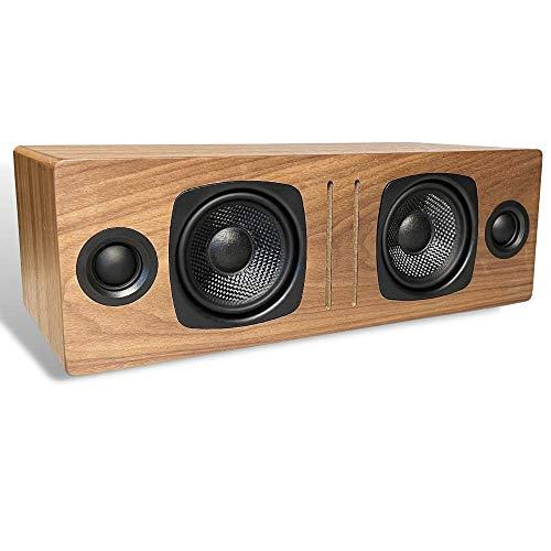 Audioengine B2 Bluetooth Lautsprecher | Tragbarer kabelloser Lautsprecher für den Heimgebrauch | BT & 3,5 mm-Klinken-AUX Eingänge | Kabel inklusive (Walnuss)