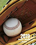 2019 Weekly and Monthly Planner: Sunny Baseball and Mitt Daily Organizer -To Do -Calendar in Review/Monthly Calendar with U.S. Holidays–Notes Volume 1