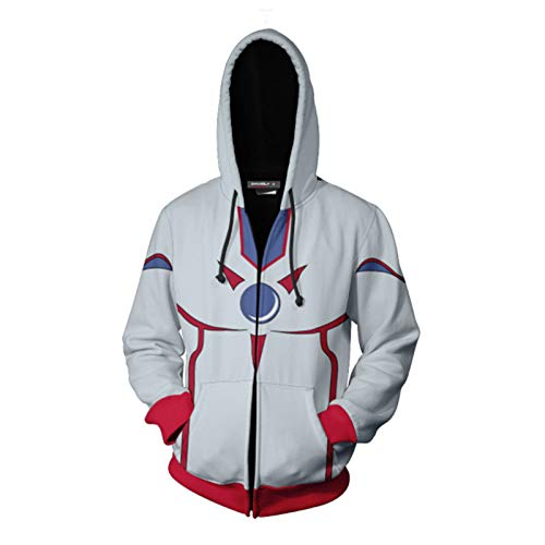 TTK Uomini Felpa con Cappuccio con Zip, Yu-Gi-Oh! Duel Links Cos 3D Stampa Coppie Felpa, Casuale Abbigliamento Sportivo, Comoda Giacca Top A-Large