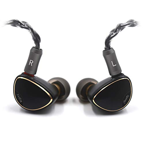 BQEYZ Spring1 Flagship in Ear Monitor Piezoelectric Dynamic Earphones Stereo HiFi Earbuds with Detachable Cable for Smartphones Player PC Tablet (Black)