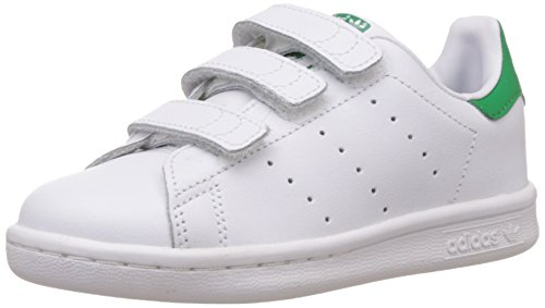 adidas Stan Smith CF, Zapatillas Unisex niños, Blanco (Footwear White/Footwear White/Green), 29...
