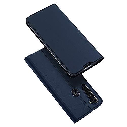 DUX DUCIS Hülle für Moto G Pro, Leder Flip Handyhülle Schutzhülle Tasche Case mit [Kartenfach] [Standfunktion] für Motorola Moto G Pro (Blau)