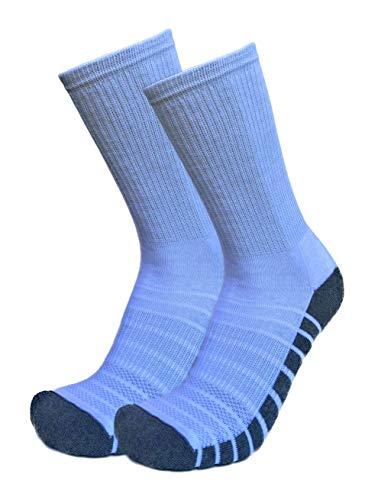ITALIAN ENDURANCE - Calcetines deportivos de running reforzados en rizo de algodón para hombre y mujer, calcetines running jogging trekking gimnasia. Bianco (Rinforzato) 42/46 ES