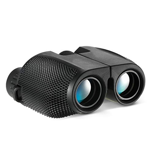 Verrekijkers 10x25 Verrekijker Compact High Powered Outdoor Sports Binocular Telescope Pocket Ruimte for Vogels kijken Verrekijker (Color : Black)