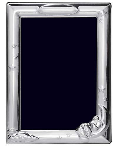 AG Marco de bautizo de plata de ley para foto de 15,24 x 10,16 cm