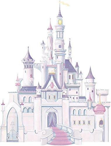 Wandtattoos Wandaufkleber Princess Castle Decal Abnehmbare Grafik Wandaufkleber Home Decoration Art Girl