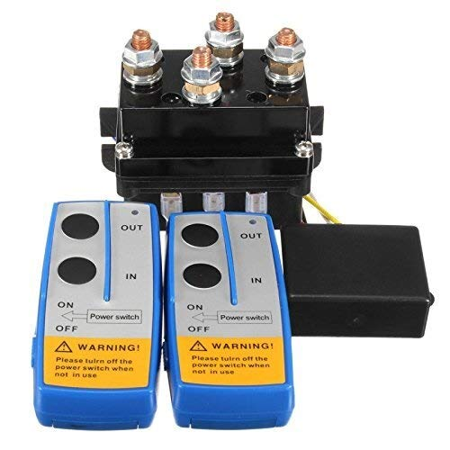 ZKS-KS 12V 500Amp HD Electric Capstan Contactor Winch Control Solenoid Twin Wireless Remote Recovery 4x4