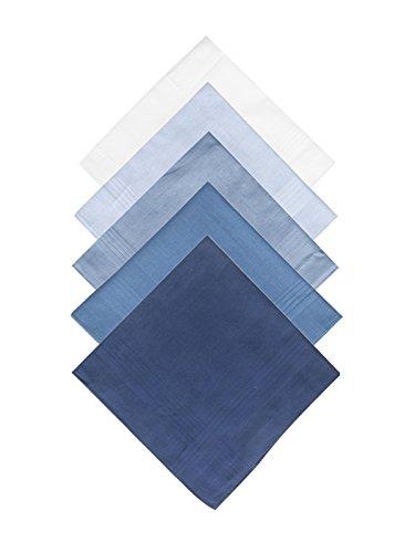 Selected Hanky Taschentücher Set für Herren 100% Baumwolle Stofftaschentücher, 5 Stücke Geschenkset, ca. 40x40 cm, Mehrfabig