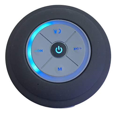 Impermeable Altavoz Bluetooth con Fuerte SuccióN De Servicio Pesado Altavoz Altavoz Subwoofer PortáTil InaláMbrico con Luz Led Disfruta De Tu Ducha Y Tiempo De MúSica (Rojo)