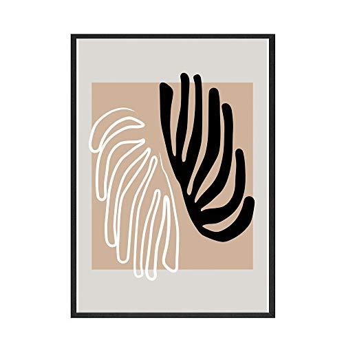 Carteles e impresiones retro nórdicos de Matisse, pintura abstracta de hojas de plantas, cuadro artístico, pintura en lienzo sin marco para el hogar, D 40x50cm