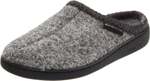 HAFLINGER Unisex AT Wool Hard Sole Slippers, Grey Speckle, 41EU