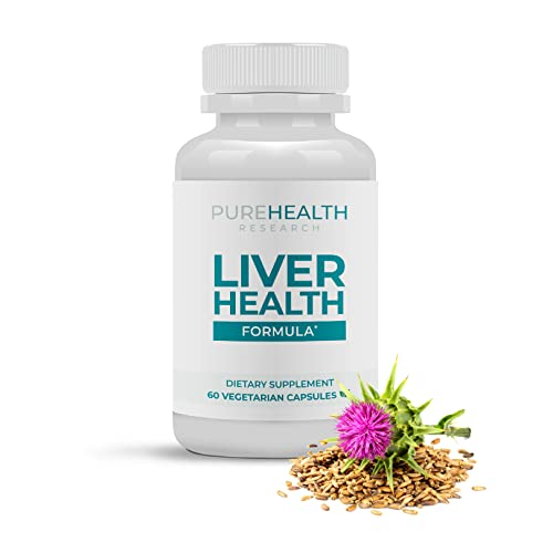 Liver Health Repair & Cleanse Supplement - Blend with Artichoke Extract, Milk Thistle, Ginger, Alfalfa, Turmeric & Beet Roots, Support Health Liver Function Boost Immune System - PureHealth Research