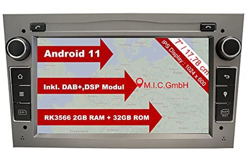 "M.I.C. AO7-Lite Android 11 Autoradio mit navi Ersatz für Opel Antara Astra h Combo Corsa d Meriva Signum Vectra Vivaro Zafira b: DSP DAB Plus 2 Din BT 5.0 WLAN 7\"" IPS Bildschirm 2G+32G USB sd GPS"