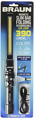 390 Lumen USB Rechargeable Work Light, COB Work Lights with Magnetic Base Ultra Bright LED Flashlight