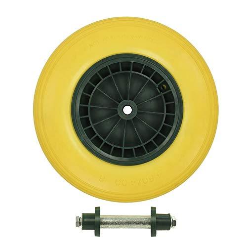 ProPlus kruiwagen wielas 20 mm PU/plastic 16 inch geel/zwart