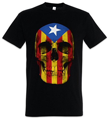 Urban Backwoods Catalonia Skull Flag Camiseta De Hombre T-Shirt Negro Talla 3XL