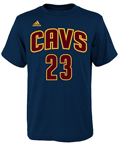 adidas Lebron James Youth Cleveland Cavaliers Navy Name and Number Jersey T-Shirt X-Large 18-20