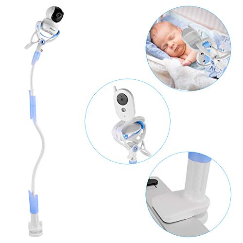 Tutmonda Baby Monitor Holder, Aluminum Alloy Flexible Camera Stand for Nursery Universal Holder Compatible with Phone & Most Baby Monitors(Blau)