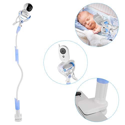 Ikkle Support de Moniteur pour Bébé Universel, Support de Caméra pour Bébé Flexible, Compatible avec la Plupart des Moniteurs Vidéo de Bébé, Babyphone, Téléphone Intelligent, Bleu
