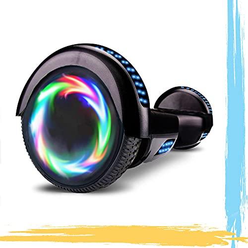 """MJK Hoverboard - 6,5"""" - Bluetooth - LED - Self Balancing Board Adulte - 700W - Smart Scooter Deux Roues - Skate Électrique Cadeaux Pas Cher-Adulte et Enfant-Noir"""